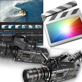 Final Cut Pro icon, desktop and camera