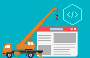 crane building a web page free image from pixabay