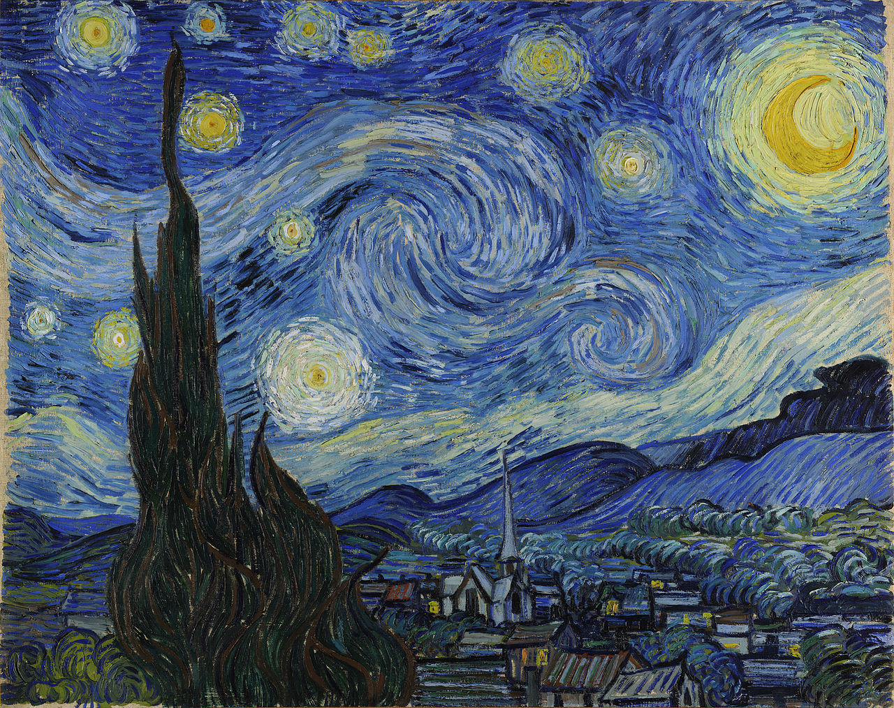 """""""Starry Night"""" By Vincent Van Gogh Source: Wikipedia"""