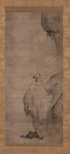10. White-robed Kannon, attributed to Shugen (fl. 1469–1521), Japan, Muromachi period; hanging scroll, ink on paper; 32 1⁄4 x 14 5/16in. ; The Frances Lehman Loeb Art Center, Vassar College, 2014.29.