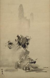 10a. Splashed Ink Landscape, Sesshu Toyo (1420–1506), Japan, 1495; hanging scroll, ink on paper; 58 1/2 x 12 7/8 in.; Tokyo National Museum, A-282.