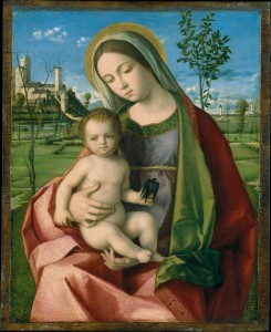 11a. Madonna and Child, workshop of Giovanni Bellini, Italy, ca. 1510; oil on wood; painted surface: 12 3/4 x 10 1/8 in., overall: 13 1/2 x 10 7/8 in.; The Metropolitan Museum of Art, The Jules Bache Collection, 1949, 49.7.2, photo: www.metmuseum.org.