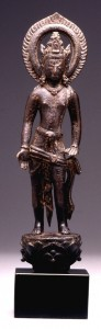 14a. Bodhisattva Lokeshvara, Nepal, 9th century; copper alloy; 9 5/16 x 2 in.; The Walters Art Museum, Baltimore, Promised gift of John and Berthe Ford, F.165.
