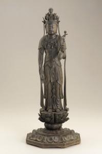 15c. Bodhisattva Avalokiteshvara (Kannon), Japan, Heian period, late 12th century; wood; Freer Gallery of Art and Arthur M. Sackler Gallery, Gift of Charles Lang Freer, F1909.350a-b.
