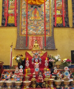 1b. Amitabha Altar, Karma Triyana Dharmachakra, Woodstock, NY, 2014.