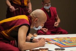 25c. Khenpo Choephel at Work on a Mandala, Asia Society, New York, 2014.