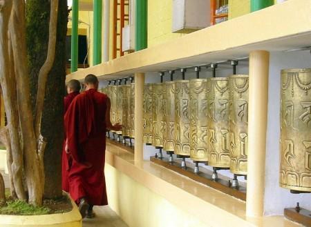 Prayer Wheels at Tsuglagkhang Temple