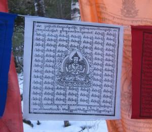 26c. Chenrezig Prayer Flag, Karma Triyana Dharmachakra, Woodstock, NY, 2015.