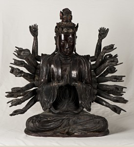 6b. Thousand-armed Avalokiteshvara (Quan Am), Vietnam, 17th century or later; lacquered wood; 30 x 31 in.; The Frances Lehman Loeb Art Center, Gift of Danielle Selby '13, 2014.31.5.