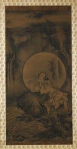 9. White-robed Kannon (Pandaravasini Avalokiteshvara), Japan, Muromachi period, late 14th century; hanging scroll, ink on silk; image: 37 15/16 x 19 3/8 in., mount: 73 1/4 x 23 15/16 in.; Princeton University Art Museum, Gift of Duane Wilder, Class of 1951, y1992-6, photo: Bruce M. White, Courtesy of Princeton University Art Museum/Art Resource, NY.
