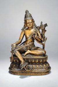 2b. Bodhisattva Avalokiteshvara, Western Tibet, 15th–16th century; copper alloy; H. 7 1/2 in.; Asia Society, New York, Gift from The Blanchette Hooker Rockefeller Fund, 1994.4, photo: Lynton Gardiner.