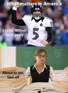 Football vs. Teaching