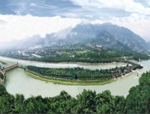 A pertinent example of environmental governance's long history in China: the Dujiangyan Dam and Irrigation System was built in 256BC and is still operational today.