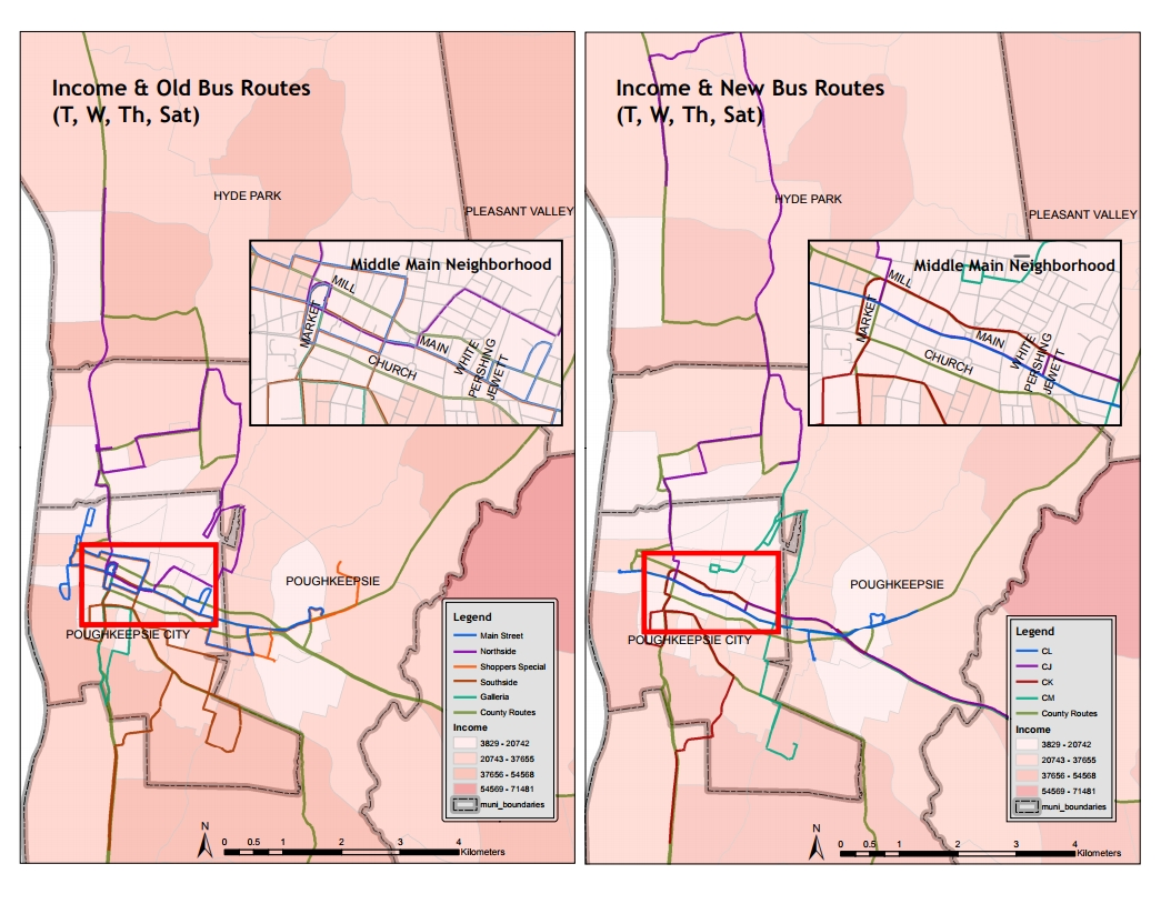 Student maps support Poughkeepsie transit analysis and