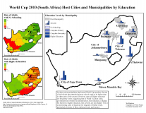 World Cup 2010 (South Africa) Host Cities and Municipalities by Education