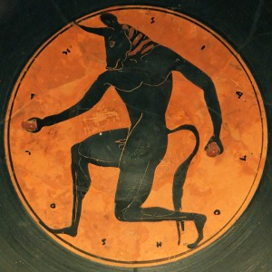 Greek depiction of the Minotaur.