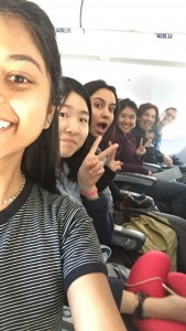 Selfie on the plane!