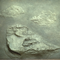 A Rock and Two Clouds