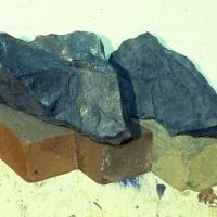 Two Rocks and Three Bricks (Detail)