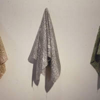 Three Hanging Cloth Sculptures