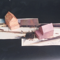 Variegated and Mauve House Maquettes for Rockland Community College