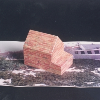 Variegated House Maquette for Rockland Community College