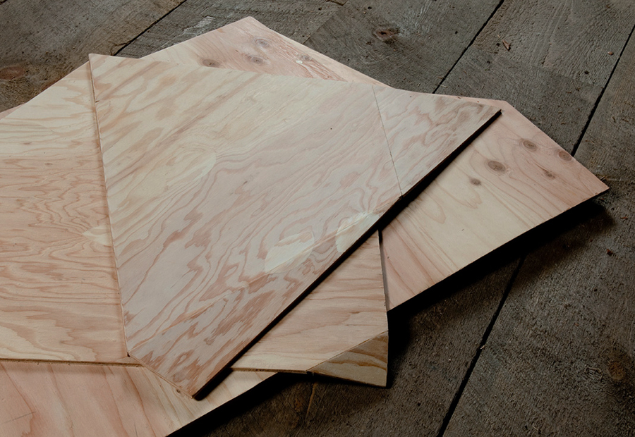 Folded Plywood 17 (Detail)