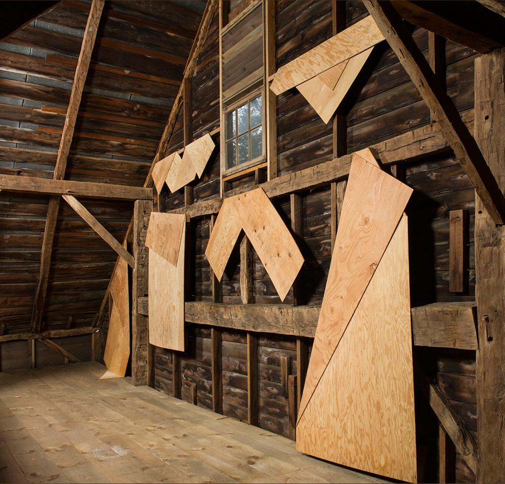 Folded Plywood Installed in Dutch Barn 1