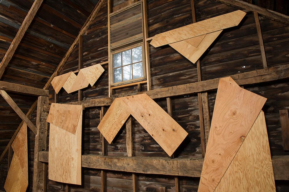 Folded Plywood Installed in Dutch Barn 2