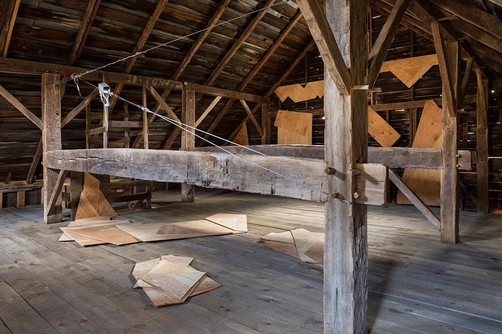 Folded Plywood Installed in Dutch Barn 5