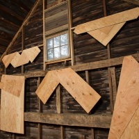 Folded Plywood Installed in Dutch Barn 2