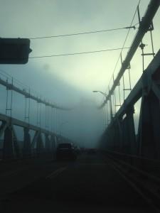 Morning fog on the Mid-Hudson Bridge