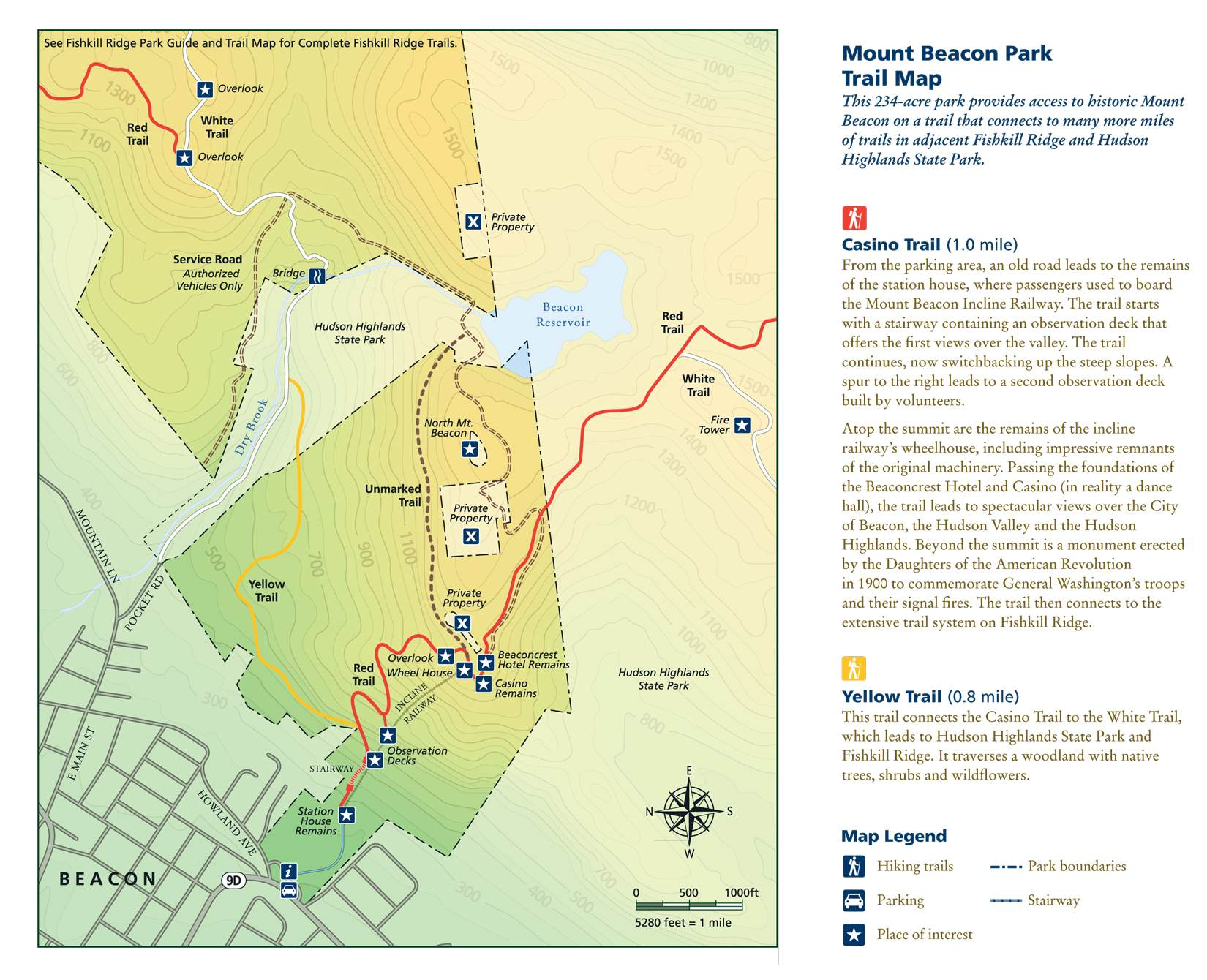 mtbeaconwebmap. mount beacon fire tower  the hudson valley's amenity economy