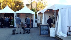 """Another shot of the artisan fair .  Overheard: woman saying """"In the Stone Age before Chanel"""" :