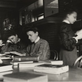 Library students studying ca 1901-1904
