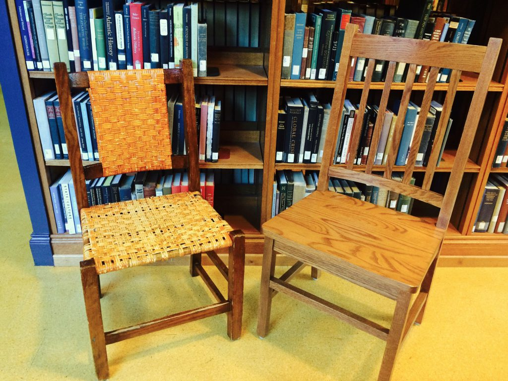 "Old chair to new chair: ""Why so quiet?"""