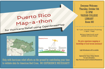 Puerto Rico map-a-thon flyer