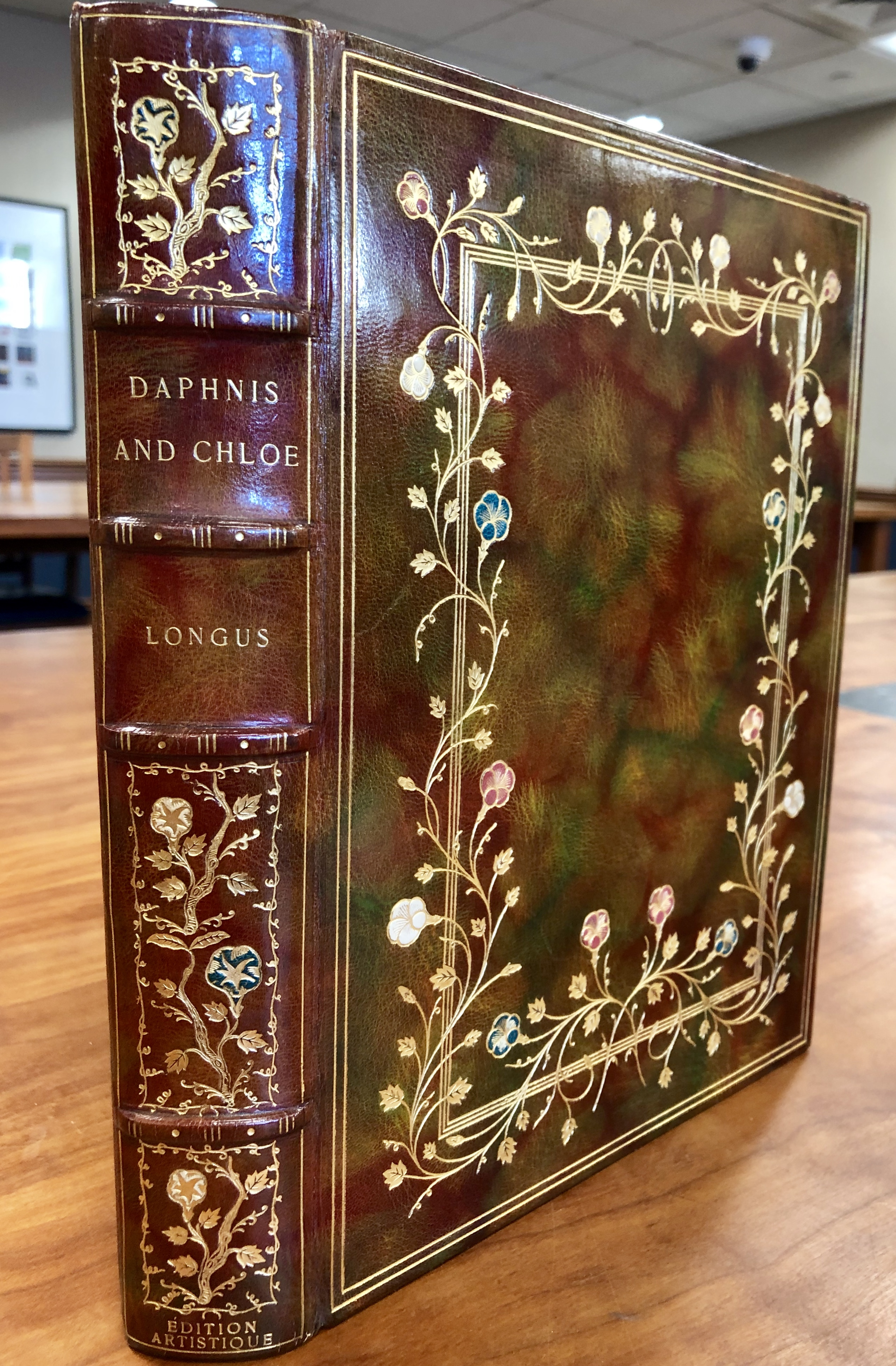 Daphnis and Chloe - book spine