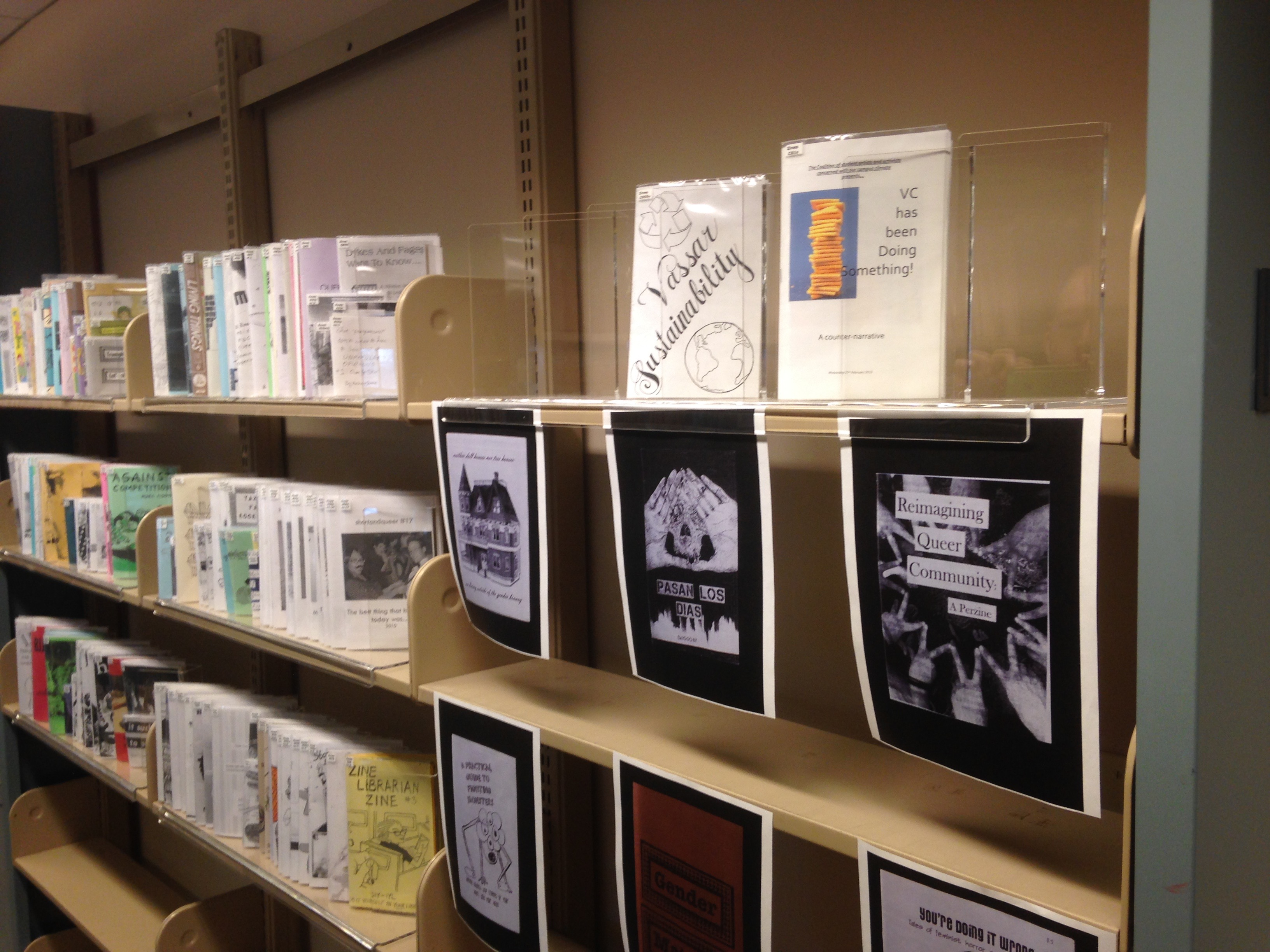 A row of zines!