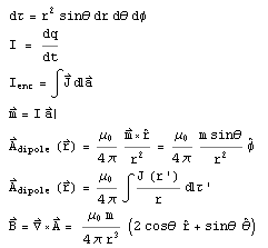 Equations Used