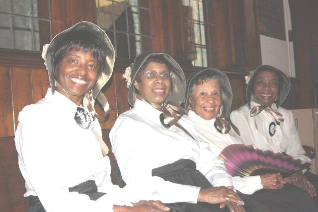 Women who ushered at the re-enactment of Eve of the Lincoln Inaugural.