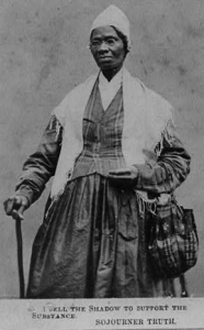 Sojourner Truth carte de viste, courtesy Library of Congress American Memory