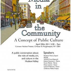 "4/20/11 panel: ""Media and the Community: A Concept of Public Culture"""