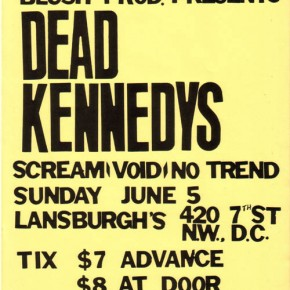 the view from suburbia: Dead Kennedys, Washington DC, 6-5-83