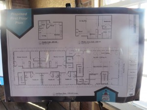 Plan for the first floor.