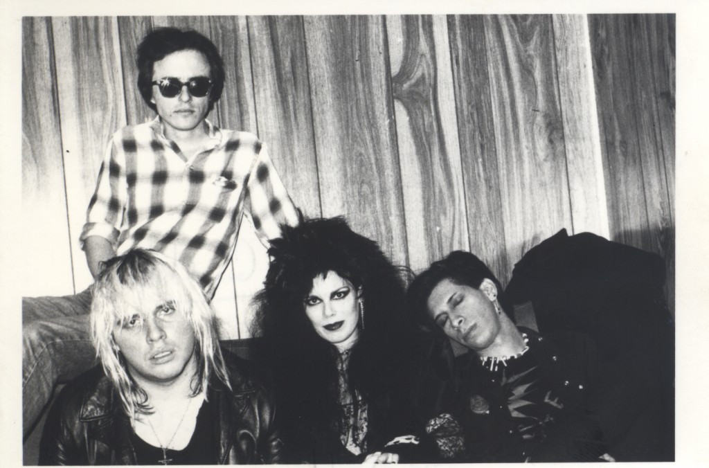 Jeffrey Lee Pierce, Terry Graham, Patricia Morrison, Kid Congo Powers (l-r)