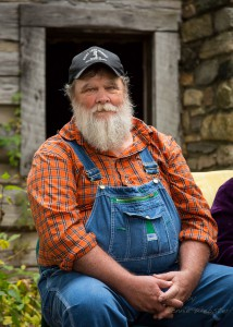 Appalachian storyteller Orville Hicks contributes to the authenticity of the festival. Photo by Lonnie Webster for the High Country Press