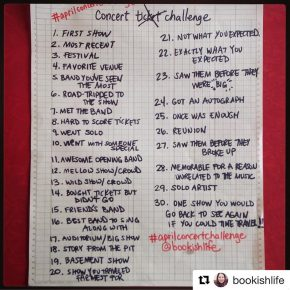 concert stories: an #aprilconcertchallenge collection