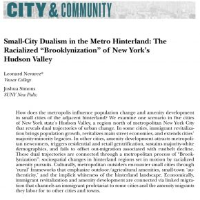 new publication: the racialized Brooklynization of the Hudson Valley