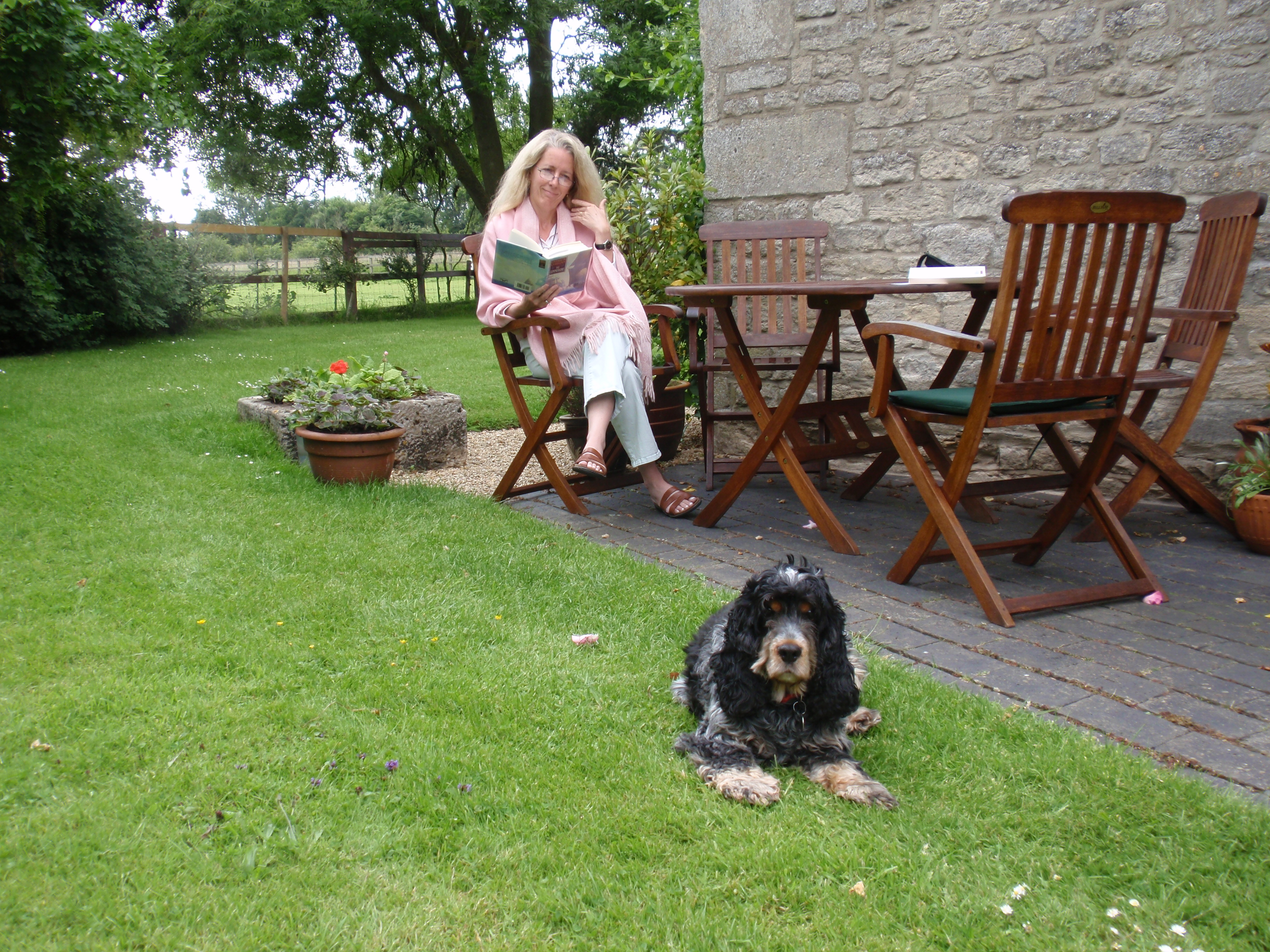 K. Libin and Rusty in Oxfordshire